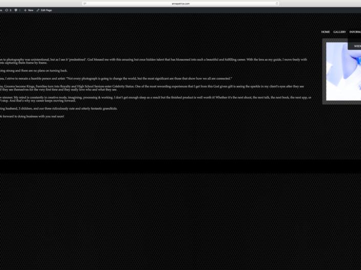 Website Redesign (Before)